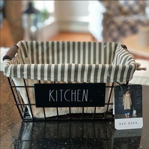 Rae Dunn Kitchen lined basket